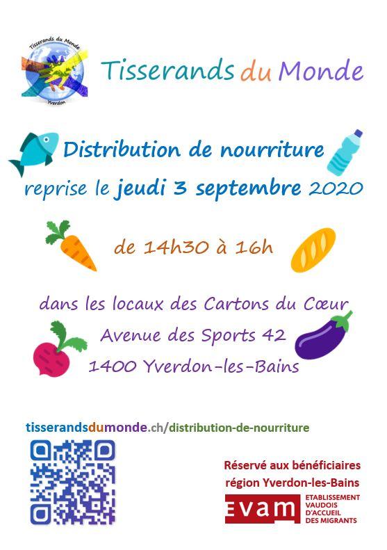 Reprise de la distribution de nourriture de l'association Tisserands du Monde